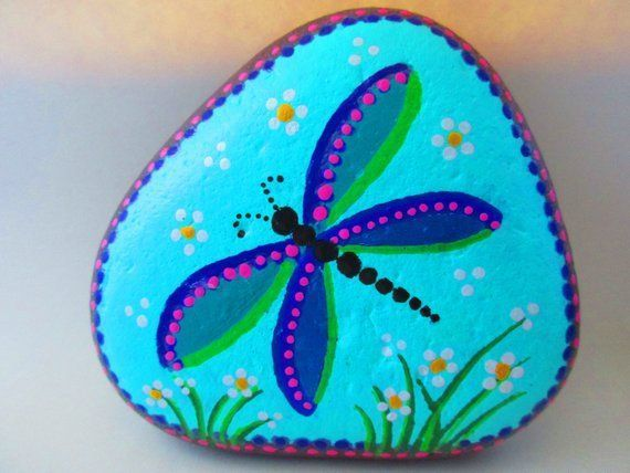 51 Easy Diy Painted Rock Design Ideas Dragonfly Painting