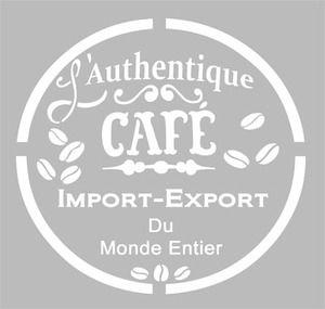 Pochoir Adhésif 20 x 20 cm AFFICHE CAFE