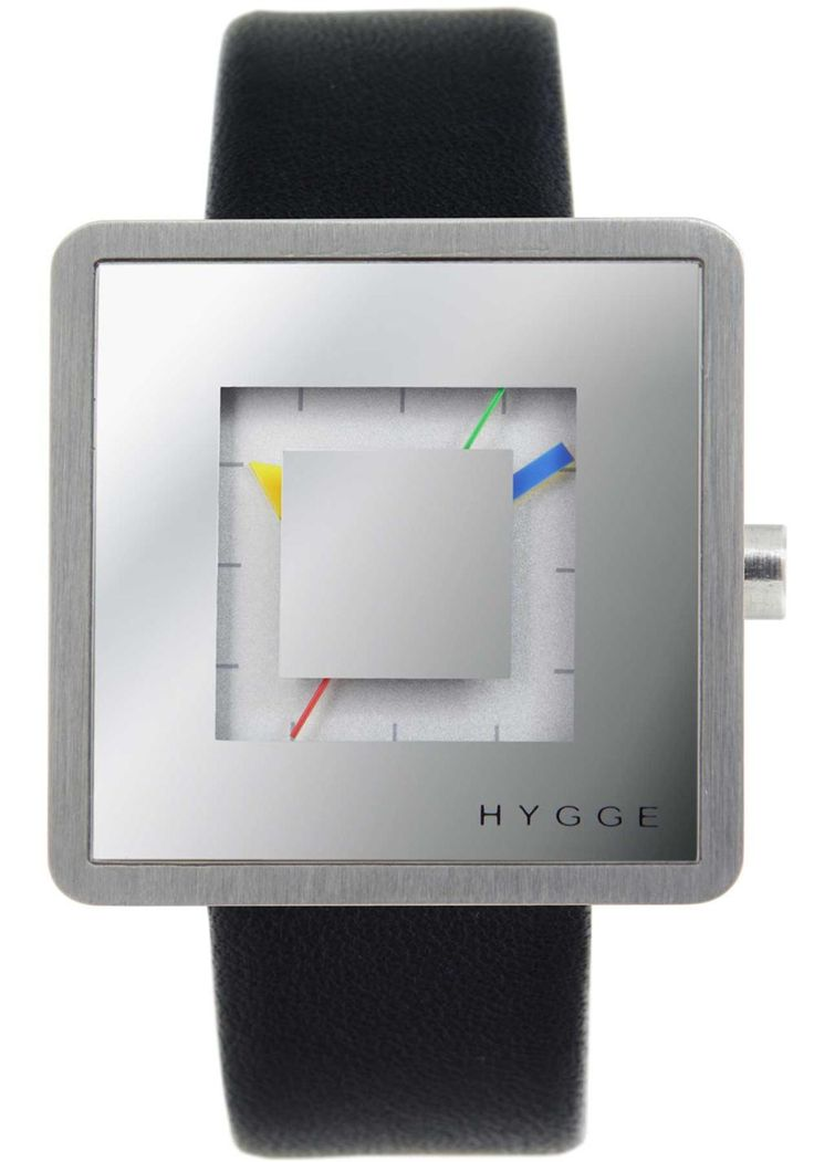HYGGE 2089 L7 Subtime Leather Mirror HYGGE is a unique watch brand directly influenced by Scandinavian design and based on Japanese quality and technical high-standards. Its minimalist aesthetic, attention to detail, and commitment to craftsmanship are a hallmark of both cultures.  In the Danish culture, Hygge is a fundamental aspect expressing a lifestyle where cozy, warm and friendly feelings are cherished.