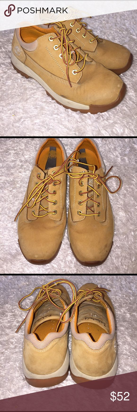 Timberland Low Tops Size7.5 men's. In great condition ! Few blemishes noted in pictures, but overall look nice. Feel free to ask any questions! No trades sorry, & offers thru offer button only! If it is listed as for sale, IT IS AVAILABLE! 😊 Timberland Shoes Boots
