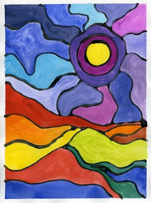 that artist woman: Painting in the style of Ted Harrison