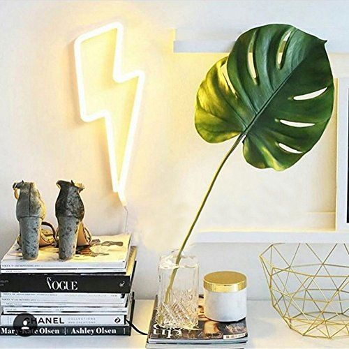 Lightning Bolt Neon Signs Light Led Neon Art Decorative L ...