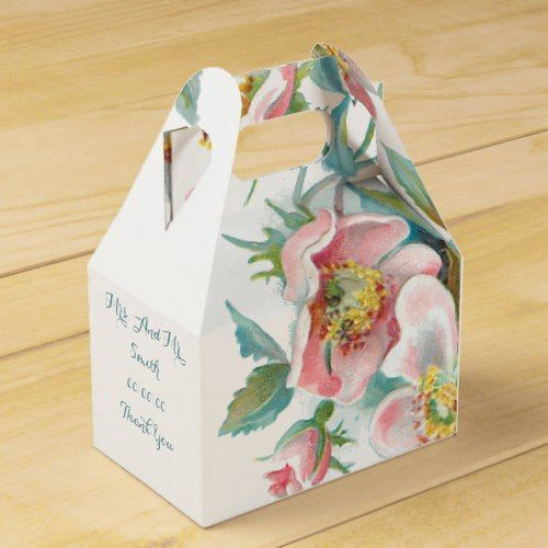 Cute Floral,wedding Favor Box,thank You Gift Box