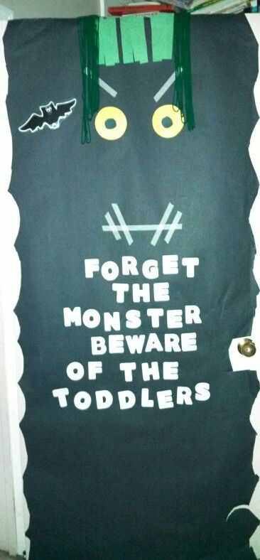 The entrance door to the toddler classroom at the daycare. - this would've been cute in our room :)