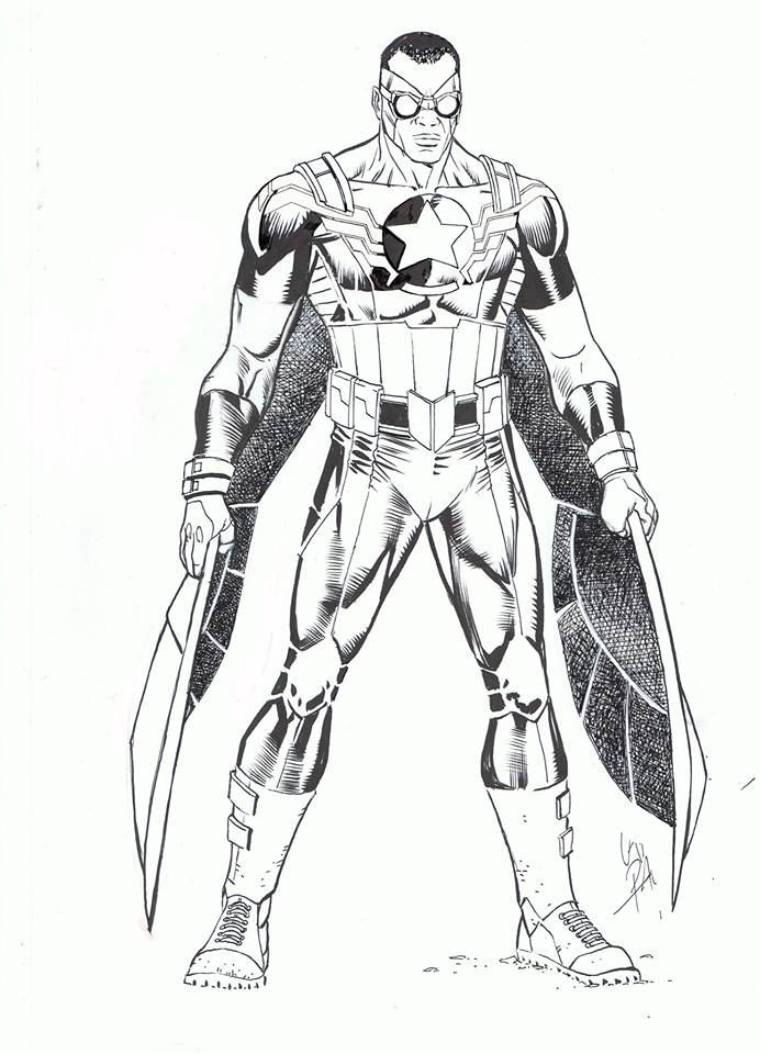 Falcon Avengers Coloring Pages See The Category To Find More