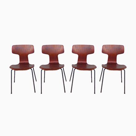 3103 Hammer Chairs by Arne Jacobsen for Fritz Hansen, 1960s, Set of 4 Jetzt bestellen unter: https://moebel.ladendirekt.de/kueche-und-esszimmer/stuehle-und-hocker/esszimmerstuehle/?uid=1da3099e-d3c6-5dae-9359-80893fb8e9b1&utm_source=pinterest&utm_medium=pin&utm_campaign=boards #kueche #sets #esszimmerstuehle #esszimmer #hocker #stuehle