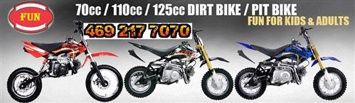 Have fun on the trails and tracks for less with cheap dirt bikes from 360 Powersports. We have an awesome selection of cheap dirtbikes for kids, teens and adults.  We guarantee you won't find cheap dirt bikes for sale at a lower price. If you do, let us know and we guarantee to beat our competitor's price. Need more than one dirt bike? We also offer a Multiple Unit Discount for even bigger savings when you buy two or more dirt bikes.