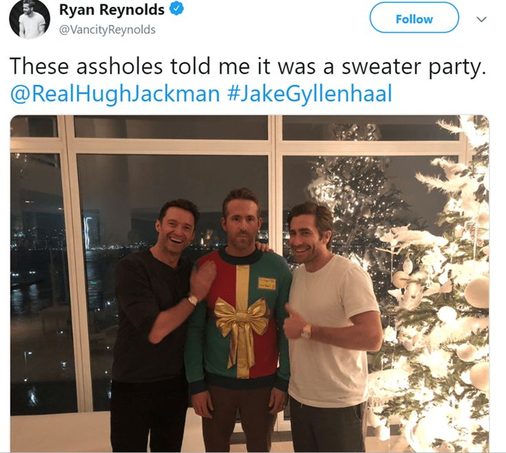 Enjoy This Photo of Ryan Reynolds Attending What He Thought Would Be a Sweater Party