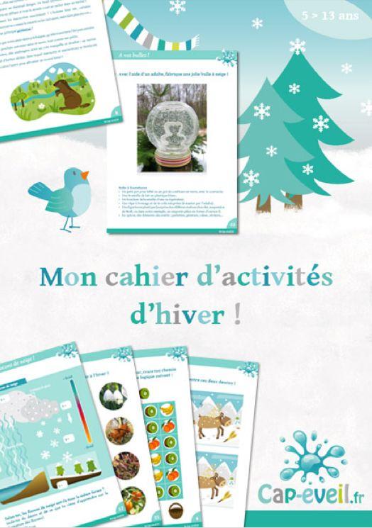 Cahier d'activités à imprimer sur le thème de l'hiver