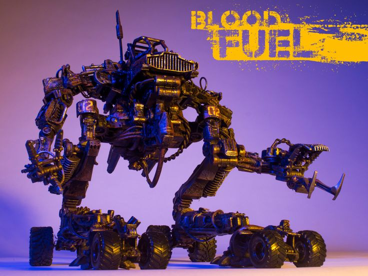ArtStation - Snake Bite, Blood Fuel Custom Mech Kit-bash, Custom Toy, Articulated Sculpture, Hand painted and weathered, Created and Designed by Caleb Prochnow, concept design, visual development