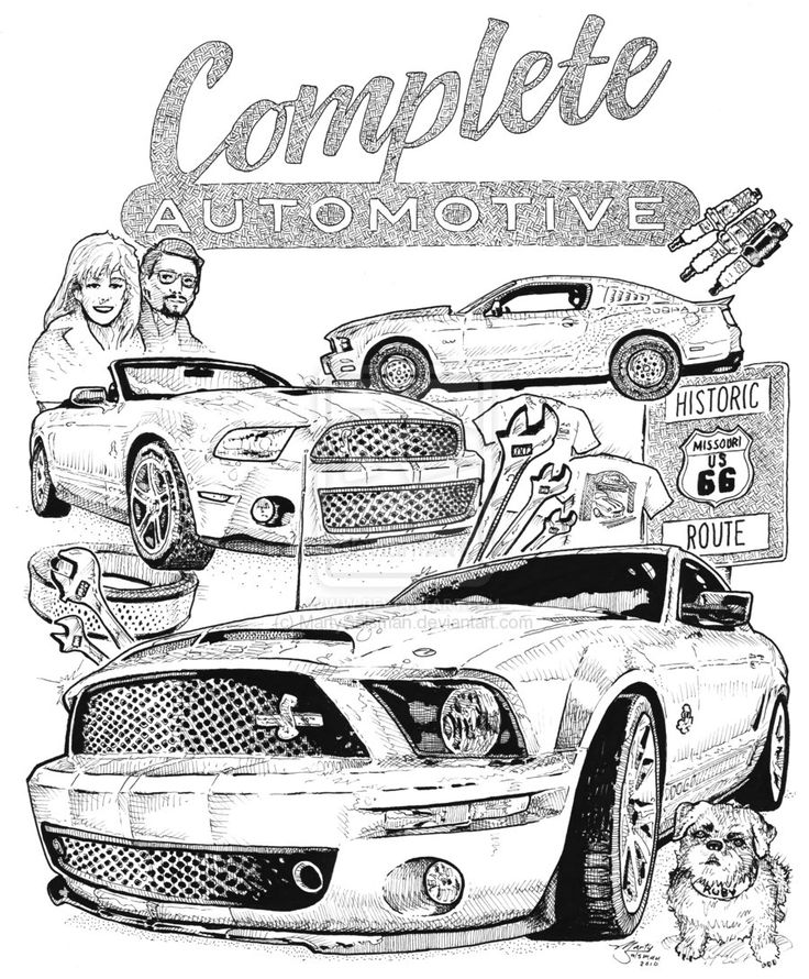 Free Mustang Coloring Pages to