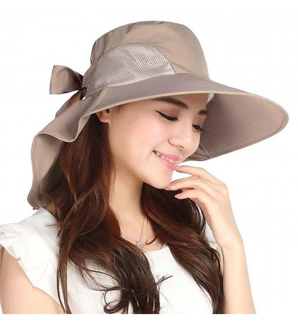 Sun Hats For Women Summer Bill Flap Cap Wide Brim Uv Protection Beach Hat Y Tan C717yi2nhew Sun Hats For Women Hats For Women Sun Hats