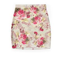 Mini Skirt #vintage #roses #red #women #scarf #fashion #fashionable #floral #flowers