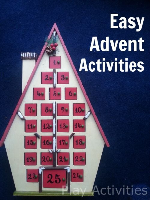 easy advent activities for kids