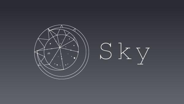 Logo design moon and sun
