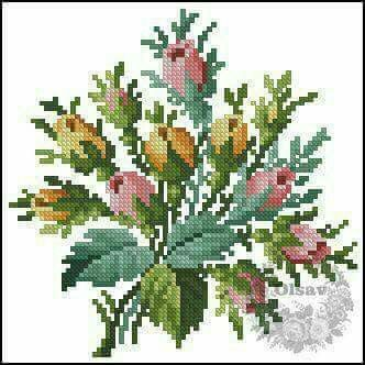 Cross stitch embroidery Poppy