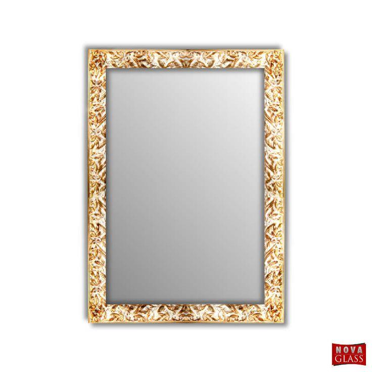 Καθρέπτης τοίχου με χρυσή ξύλινη κορνίζα Νο Α48