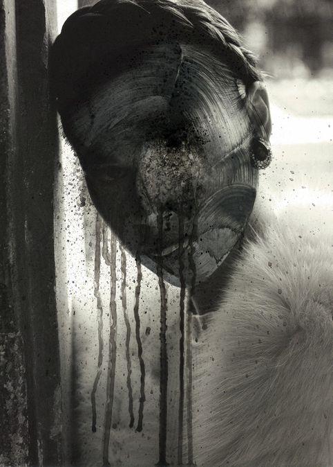 Me fundo con la mañana 2014 - Disolvente sobre papel  Imagen: 32 x 23 cm.  Enmarcado: 55 x 45 cm.  Obra enmarcada con paspartú y marco de madera negro