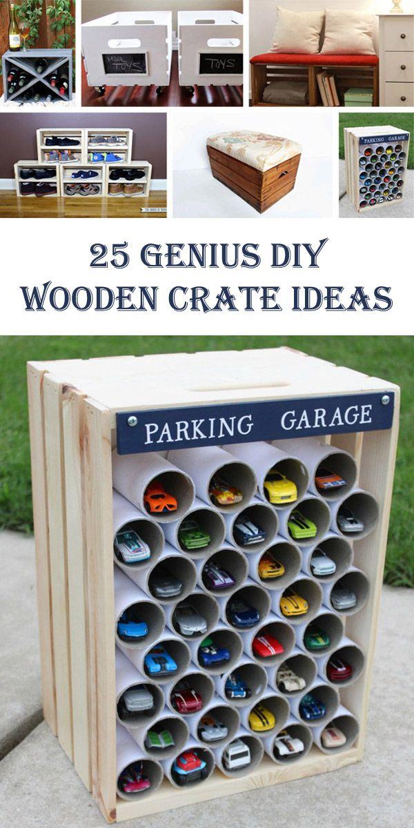 25 Genius DIY Wooden Crate Ideas