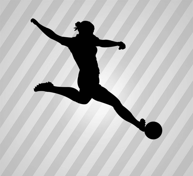 Female Soccer Player Silhouette Soccer - Svg Dxf Eps Silhouette Rld Pdf Png AI Files Digital Cut Vector File Svg File Cricut Laser Cut