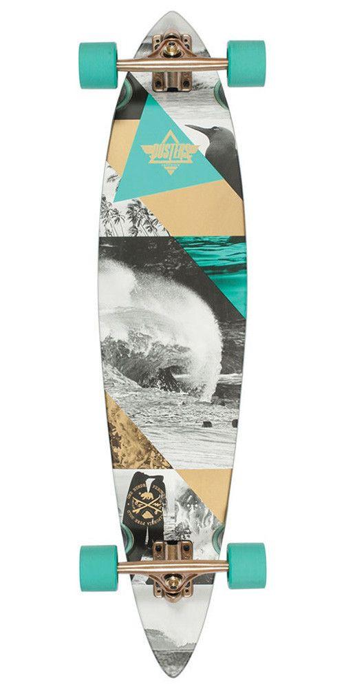 Dusters Curl Longboard Complete Skateboard - Teal/Gold - 39.0in WANT!!!!!!!!!!!!!!!!!!!!!!!