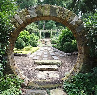 Stone garden gate from the Bob Vila website