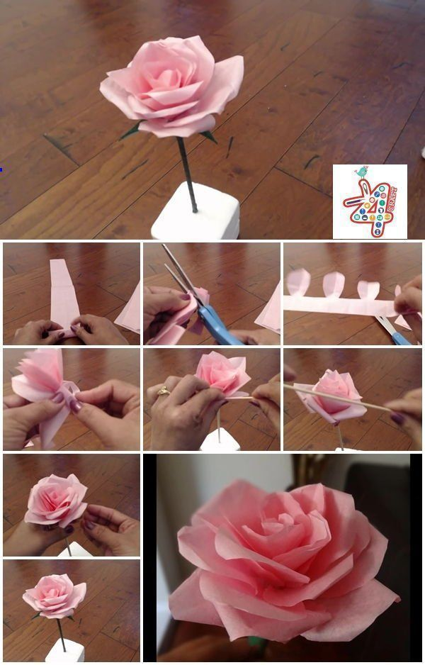 Easy To Follow Step By Step Instructions Making These Beautiful Looking Flowers Diy Layered Pap In 2020 Easy Paper Flowers Paper Flower Tutorial Tissue Paper Flowers