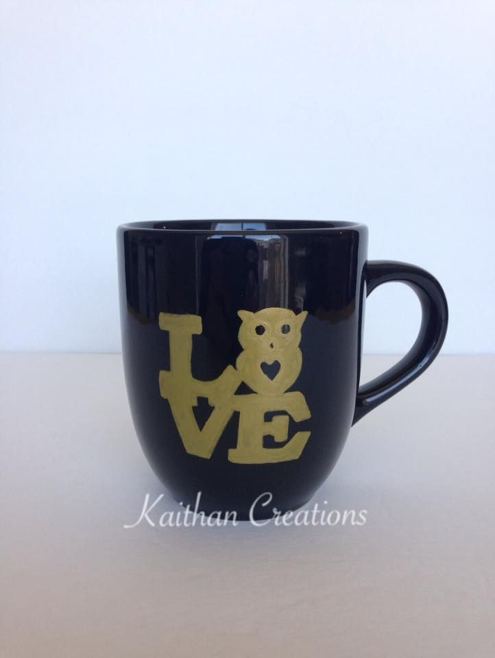 Love Mug for the Owl lovers by Kaithan Creations.  Visit my Facebook page for more gift ideas or to place your order. https://www.facebook.com/kaithancreations/photos/a.477422192457533.1073741846.216663808533374/468346126698473/?type=3