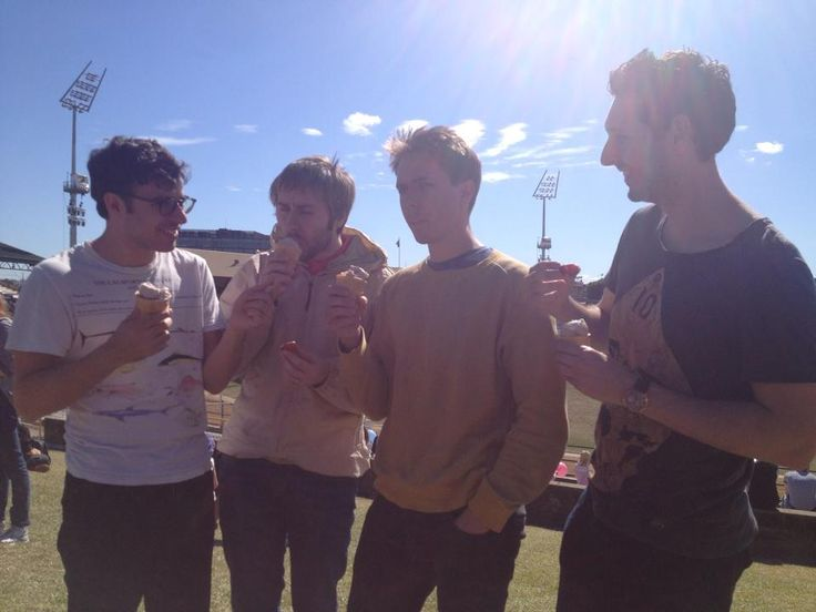 The Inbetweeners stars enjoying their Strawberry Sundaes on People's Day.