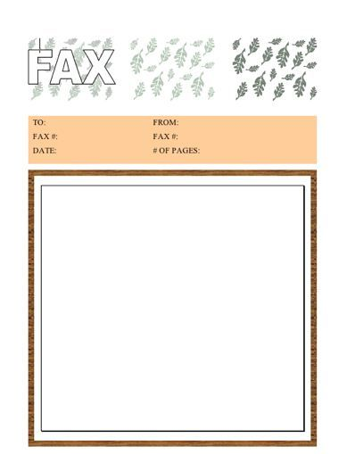 Match your faxes to the season with this printable fax cover sheet that is bordered in brown and illustrated with falling leaves. Free to download and print