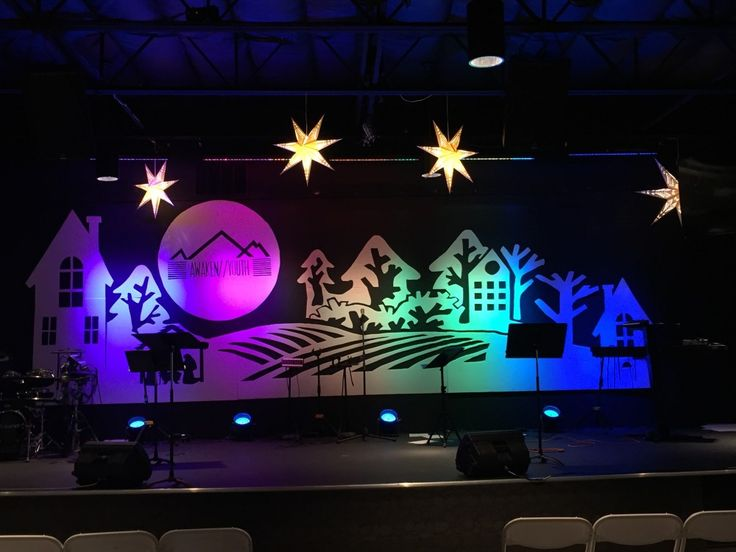 two tone christmas from victory life church in fruita co church stage design - Concert Stage Design Ideas