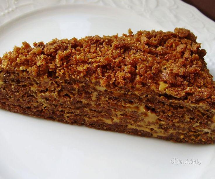 Karamelový medovník • recept • bonvivani.sk