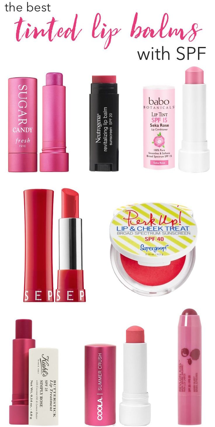 The best tinted lip balms with SPF that keep your lips soft, smooth and safe from sun damage while adding a sheer pop of color.