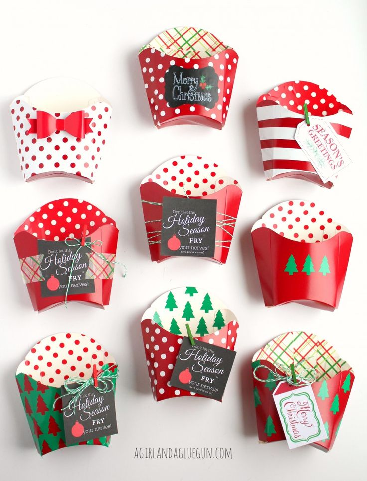 decorated fry boxes