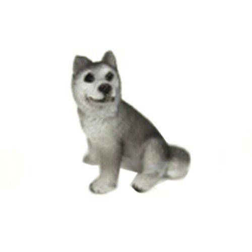 Set of 3 Pretty Lovely Mini Huskies Dog Figurines for Pot Plant * Click image for more details.