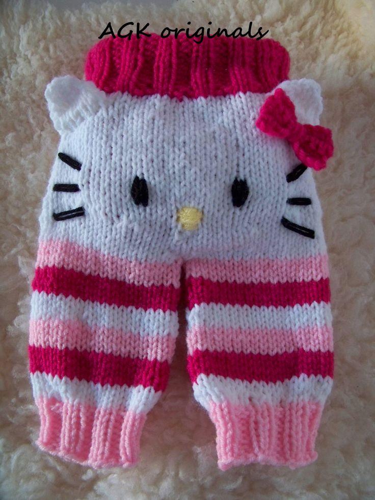 hand knit kitty bum pants
