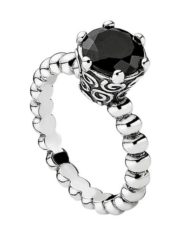 anillo pandora piedra negra