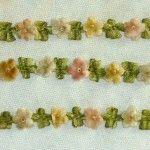 Vintage/Antique Rococo trim Velvet Flowers Ombre Ribbon