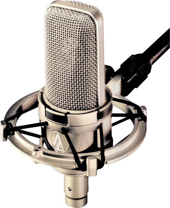 Audio-Technica AT4047 Condenser Microphone.     My mic at home.