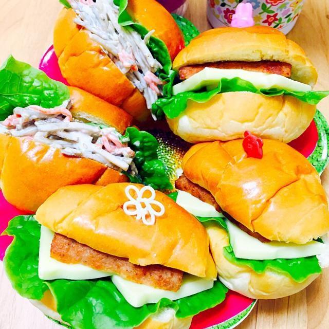 ゴボウサラダサンド&ソーセージチーズサンド - 23件のもぐもぐ - ♡サンドウィッチ♡ by erina