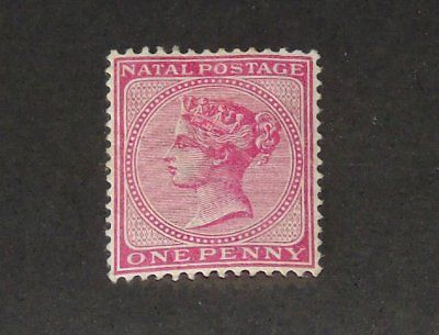 Stamp Pickers Natal 1884 Classic Queen Victoria 1p Scott #67 MH OG
