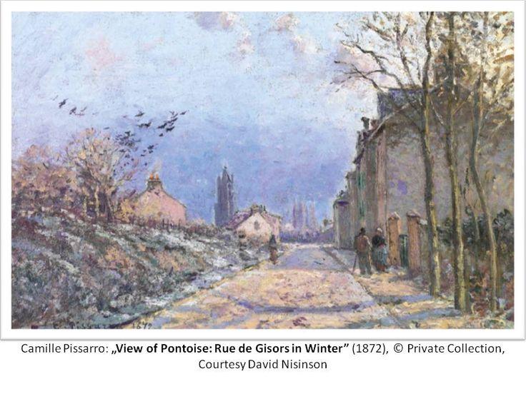 """Camille Pissarro: """"View of Pontoise: Rue de Gisors in Winter"""", 1872; © Private Collection, Courtesy David Nisinson"""