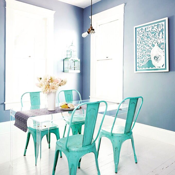 Turquoise Metal Chair Make The Perfect Addition To Any Table And We Have A Set Of