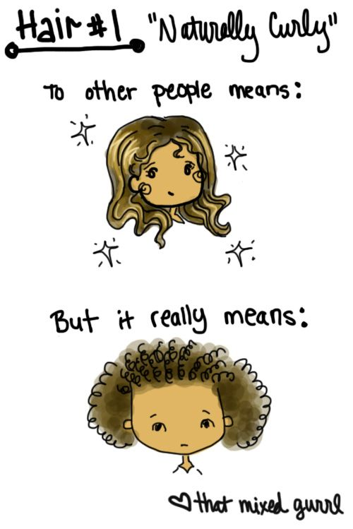 Girl Hairstyle Quotes : Best 25 mixed girl problems ideas on pinterest curly