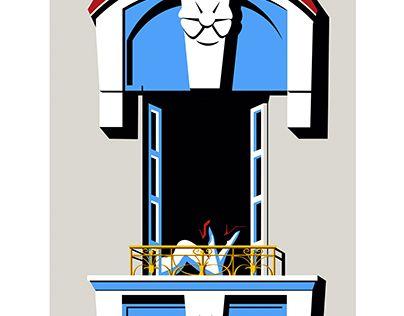 """Check out new work on my @Behance portfolio: """"Neighbor ! Voisine !"""" http://be.net/gallery/51536999/Neighbor-Voisine-"""