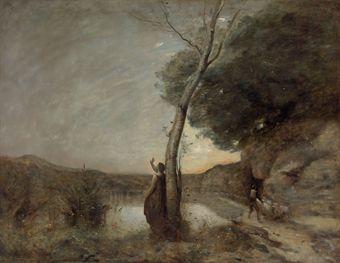 "C (44) és Corot találkoznak 1863. Jean Baptiste Camille Corot (Paris 1796-1875) ""L'Étoile du Berger (The Evening Star)"","