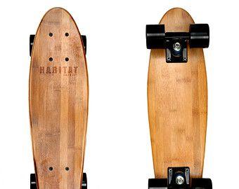 "Hollenbeck 22"" Cruiser Bamboo Skateboards - Gift For Him - Summer - Custom - Vintage - Wood - Personalize - Hand Crafted - Short Board"