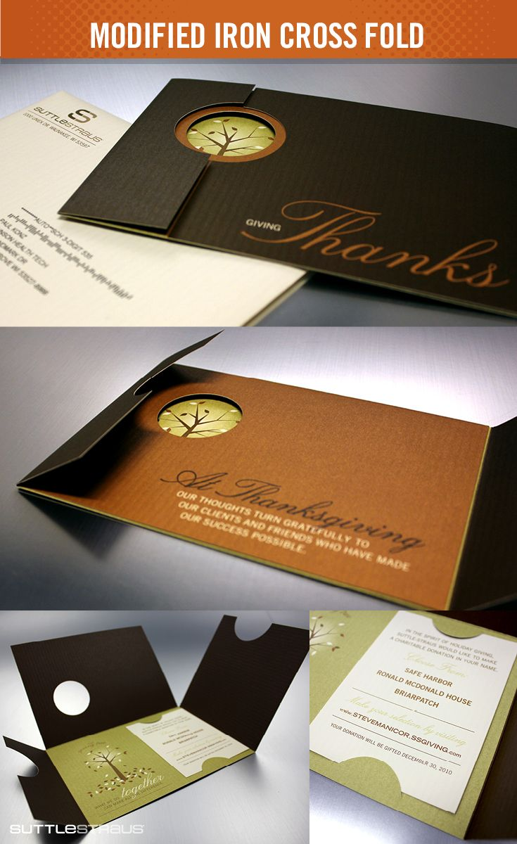 36 best creative direct mail images on pinterest place settings modified iron cross fold holiday card mailer a modified 3 panel gatefold printed conventionally magicingreecefo Gallery