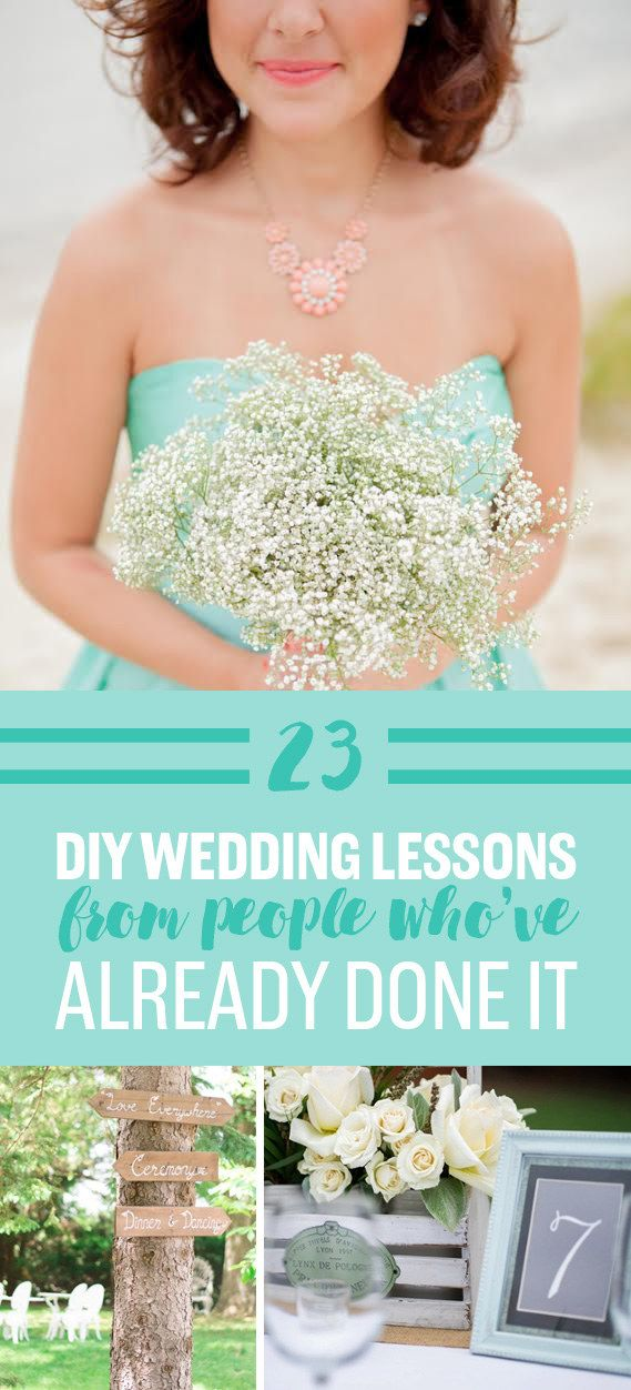 23 DIY Wedding Lessons From People Who've Already Done It