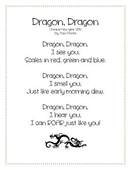 Celebrate the year of the dragon with original poetry and a cute colouring page!If you enjoy this preview, please consider my Chinese New Year ...